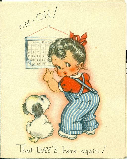 Oh-oh! That day's here again! #cute #vintage #birthday #cards