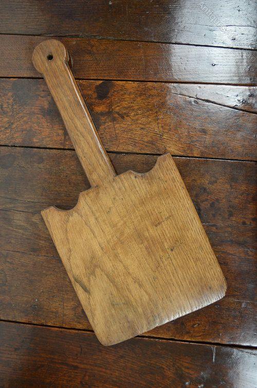 18thC Welsh Oak Oatcake Peel Treen 18th/19th century Welsh oak oatcake or bread peel from the Cardiganshire region