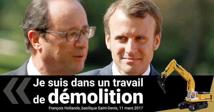 De passage à la basilique de Saint-Denis il y a quelques jours, le chef de l'Etat, d'humeur particulièrement blagueuse, n'a pas hésité à tourner en dérision le bilan de son propre quinquennat.