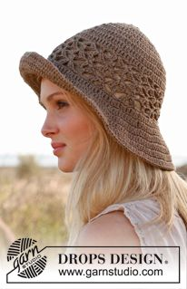 Need a Summer Beach Hat? Try this one on in DROPS Bomull-Lin or Paris! DROPS Cotton Sale begins July 1st! Find us at www.nordicmart.com