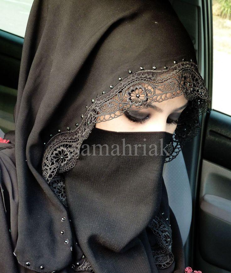 Pretty niqaab - I like the lacy trim on the shayla