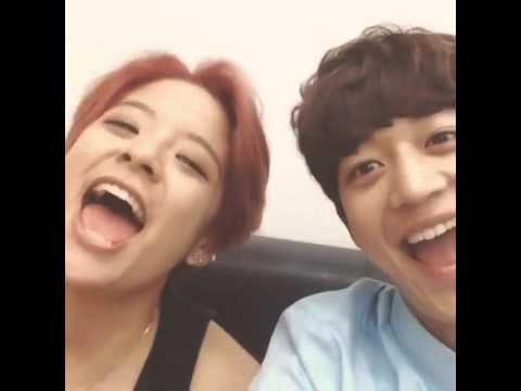 [RANDOM] 20140719 Amber and Minho: the llama song - How cute they are!