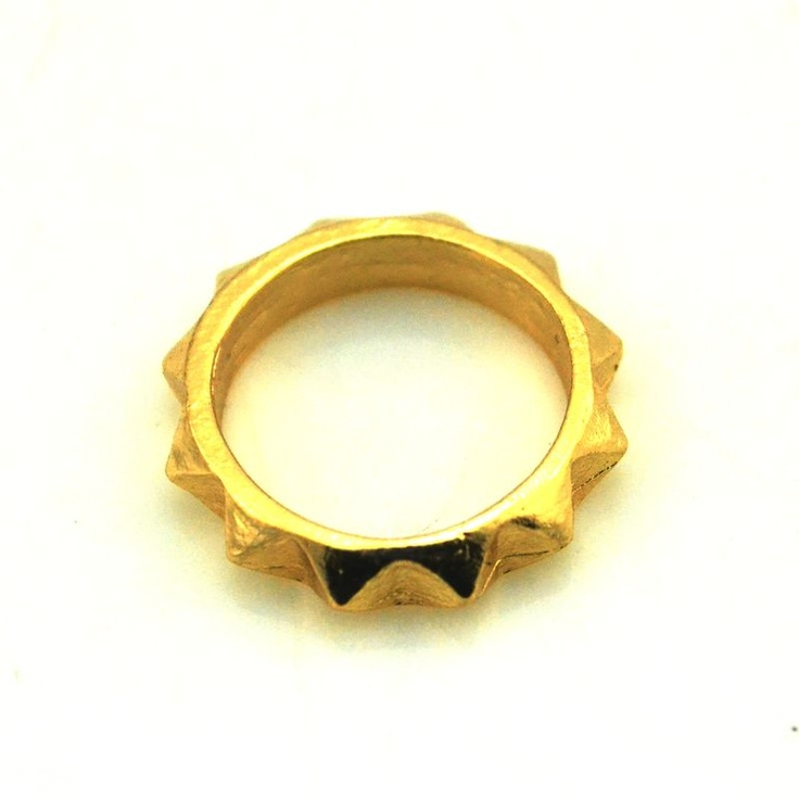 13. Gold Spikes Ring $3