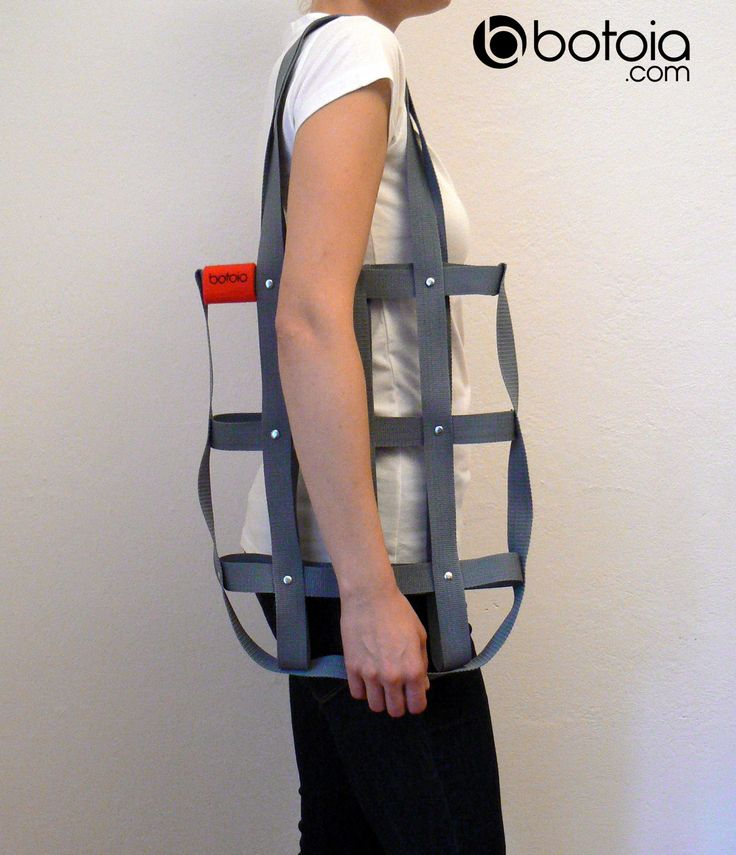 grey hand bag with rivets www.botoia.com