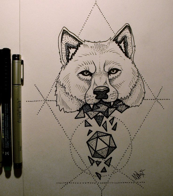 Tattoo Wolf 2 by MaryMaryLP