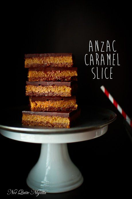 An Anzac Caramel Slice - Two Aussie Classics In One for Anzac Day!