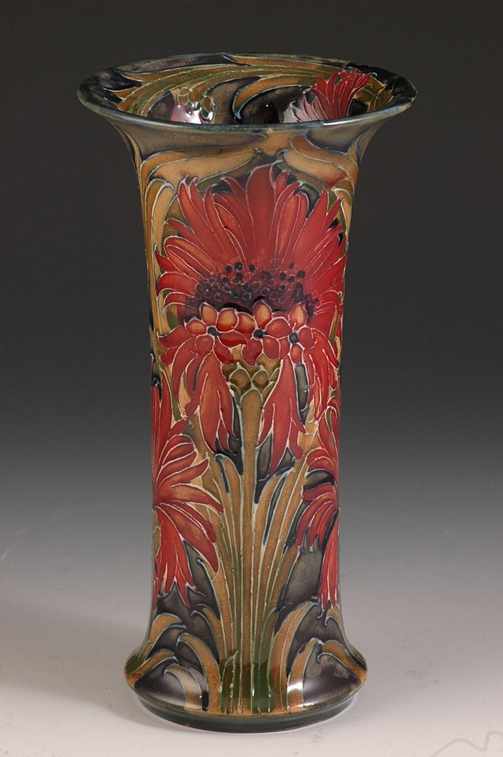 221 best moorcroft pottery images on pinterest ceramic art william moorcroft revived cornflower vase c1916 a really richly decorated and coloured reviewsmspy