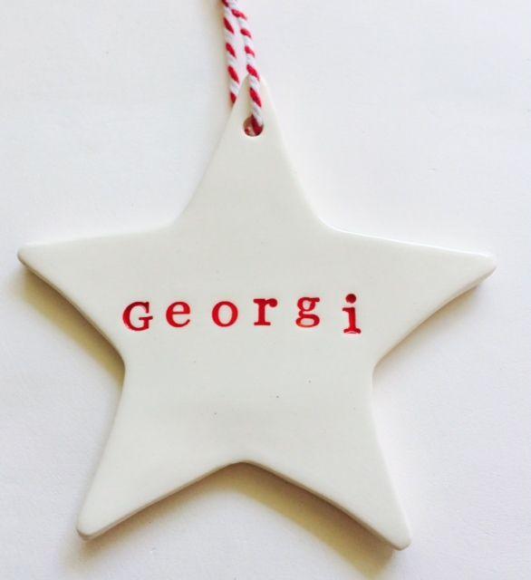 Personalised Ceramic Christmas Decorations