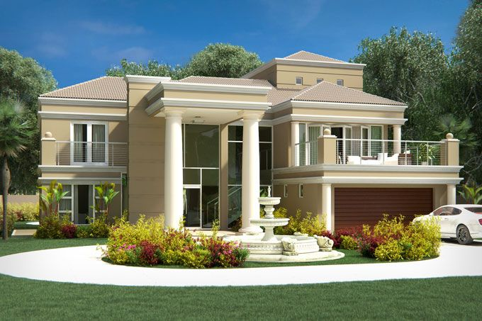 French Provincial House Design By Archid Architects Modern 4 Bedroom House Plans Tuscan Double Storey House Plans House Plans South Africa Tuscan House Plans