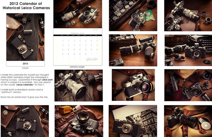 Now I know this is a stretch, but how could I resist such beauties. 2013 calendar of historic Leica cameras