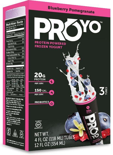 helado de yogurt, rico en proteínas
