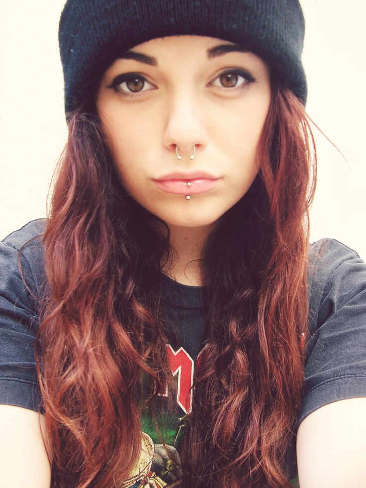 Too many girls are starting to have the same lip ring as me, boooooo :(