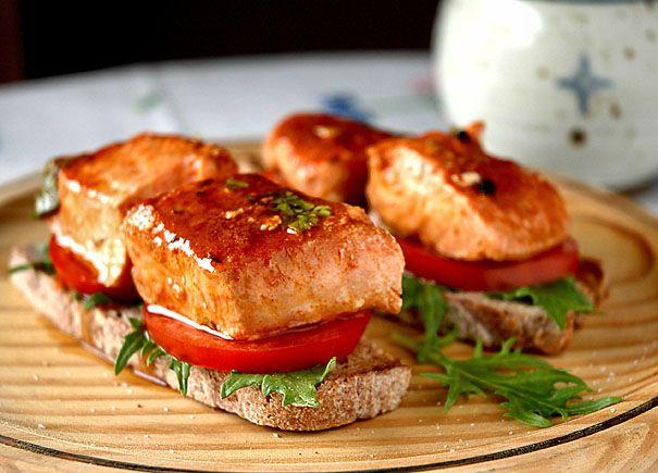 Tacos de salmón en escabeche   Recetas con fotos paso a paso El invitado de invierno