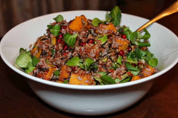 Red and Wild Rice Salad with Roasted Squash and Other Yummy Things from The Garlic Press