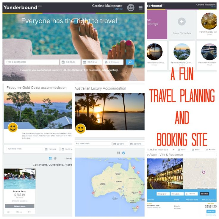 FUN New Travel Planning and Booking site called Yonderbound