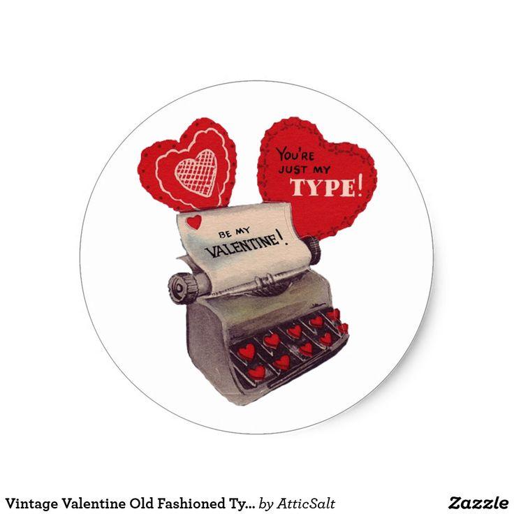 Vintage Valentine Old Fashioned Typewriter
