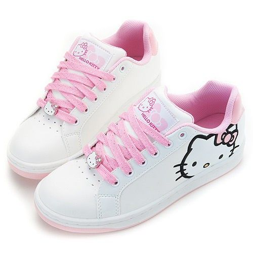 Hello Kitty Ladys Comfy Sneakers Shoes White-Pink #910613 $66.45