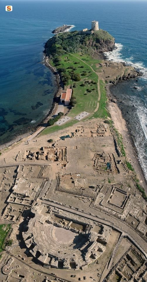 "Nora | The archaeologcal site by the sea. I've seen the play ""Our Town"" in the theater you see in the lower part of the picture."