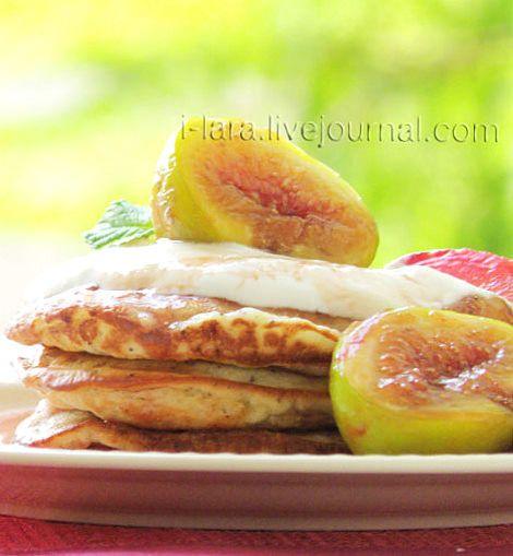 Банановые оладьи с инжиром - Рецепты