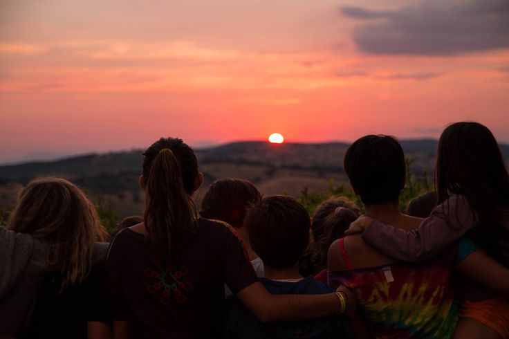 Staring at the sun going down beyond the hills is the way we love to end up every day at our Summer Camp   La Capitana, Maremma, Tuscany
