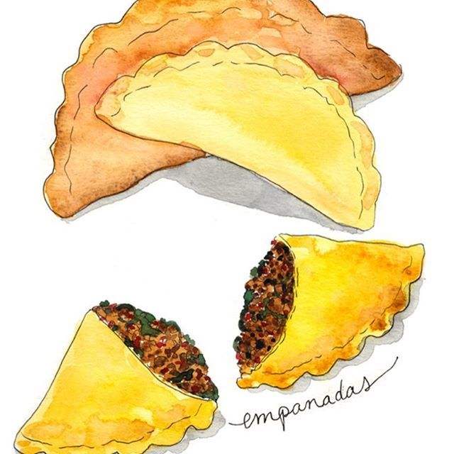These Delectable Empanadas Are Super Easy And Satisfying To Make And I Ve Got Recipe Multiple Variations Empanadas Food Illustrations Food Illustration Design