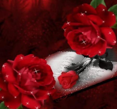 Glitter rose - glitter, roses