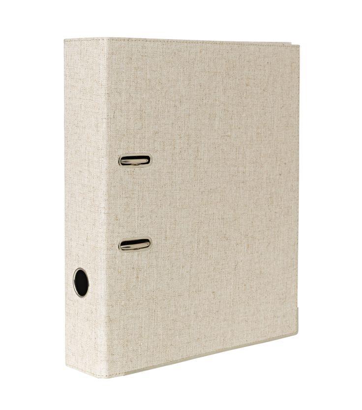 Lever arch folder linen