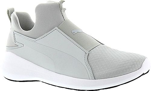 PUMA Shoes - This sleek slip-on is the perfect companion for your active lifestyle. Mesh upper with supportive synthetic overlays. - #pumashoes #grayshoes