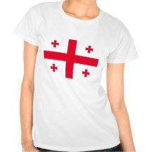 Georgian Flag Tee Shirts #Womens #Tee #Ladies #Shirt #Flag #Country #Banner #Nation #DWW25921 #Customize #Ecommerce #Smallbiz #Style #Shopping