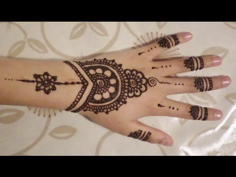 Simple Wrist Henna - Easy to Do Bracelet Style Mehendi Design - Jewelry Style Henna for Beginners - YouTube