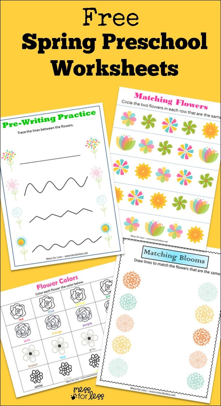 172 best spring theme flowers images on pinterest spring theme free spring preschool worksheets mess for less dhlflorist Gallery
