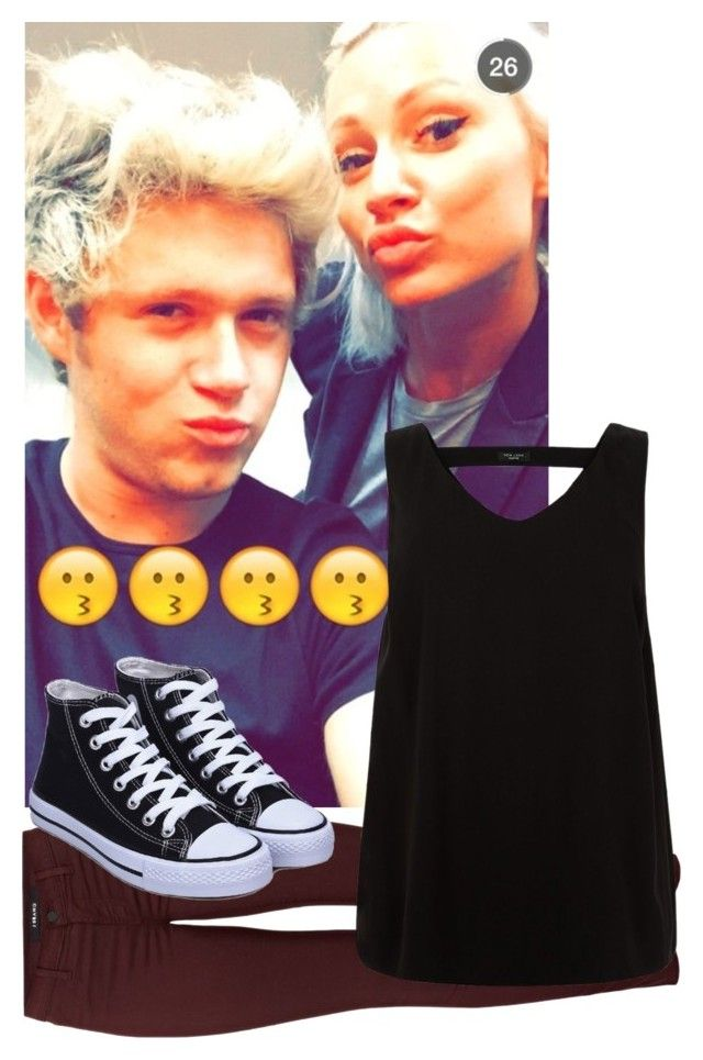 """""""Snapchatting with Niall and Lou (Niall's Girlfriend)"""" by luckycharms1d ❤ liked on Polyvore featuring J Brand"""