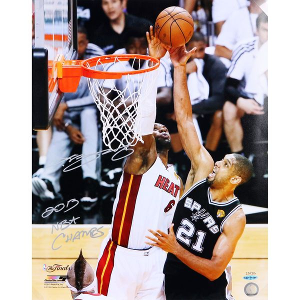 """LeBron James Miami Heat Upper Deck Autographed 16"""" x 20"""" 2013 NBA Champions The Block Photograph with 2013 NBA Champs - Limited Edition of 25 - $1199.99"""