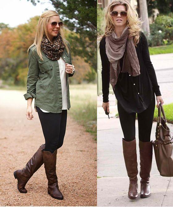 Looks com legging _bota montaria