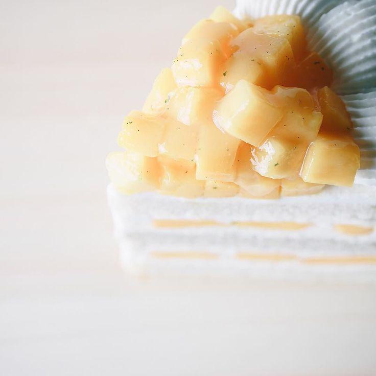 """マンゴー好きに捧ぐ for all mango-holic. . [Patisserie SATSUKI] Kioicho Tokyo. 東京 紀尾井町 [パティスリー SATSUKI] """"Extra super mango short cake / エクストラスーパーマンゴーショートケーキ"""" . . #finesweetsart #igersjp #instagramjapan #tokyocameraclub #instafoodie #foodart #foodstagram #beautifulcuisines #feedfeed #f52grams #vsco #foodvsco #food #sweets #snack #dessert #cafe #cake #shortcake #mango #デザート #スイーツ #お菓子 #ケーキ #ショートケーキ #マンゴー #SATSUKI #エクストラスーパースイーツ"""
