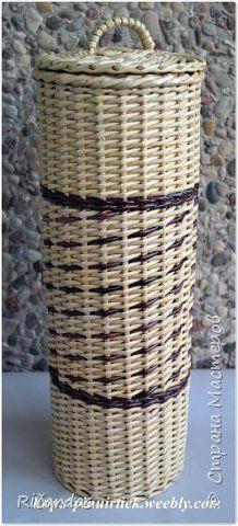 Поделка изделие Плетение 2015 январь-март Картон Трубочки бумажные фото 30