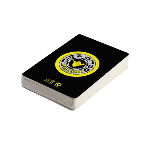 DA10 Bultaco Inspired Playing Cards  A classic deck of cards featuring our DA10 logo that was inspired by the design of the Spanish motorcycle manufacturer, Bultaco. Comes in a matching branded paper box.
