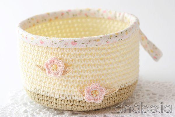 Crochet basket by Anabelia + tutorial