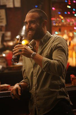 Joshua Sasse! - esp. as his No Tomorrow character with that beard, accent, & sassy intelligence!