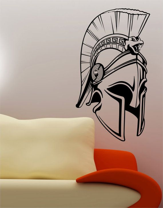 Check out this item in my Etsy shop https://www.etsy.com/listing/197105691/trojan-helmet-wall-vinyl-decal-sticker