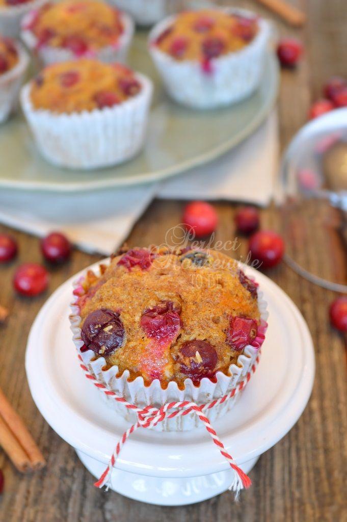 Recept pompoen muffins met cranberry's (glutenvrij, suikervrij, koemelkvrij) | Perfect Housewife - to be