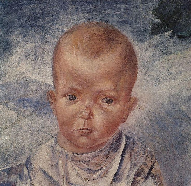 Daughter of the artist. 1923. Kuzma Sergeevich (1878-1939) Petrov-Vodkin. Download painting.