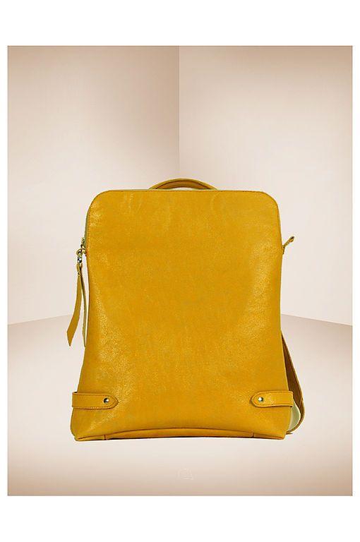 Спортивные сумки ручной работы. Рюкзак кожаный Nature Yellow. AD's  design…