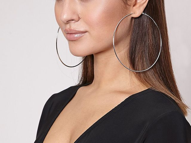 Image result for large hoop earrings