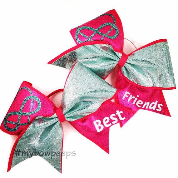 Best Friends Cheer Bow Set by MyBowPeeps on Etsy