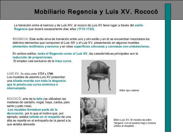 Mobiliario regencia y luis xv rococ la transici n entre - Silla luis xiv ...