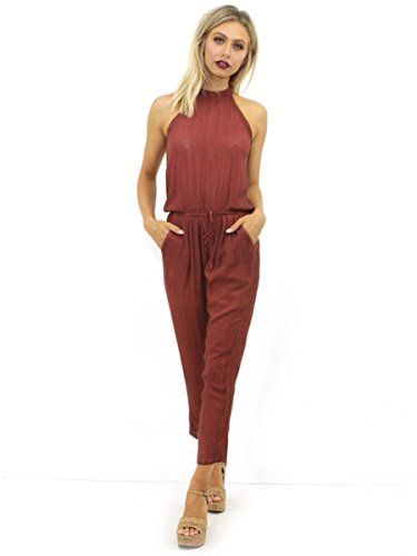 6a2008c3d8 West Coast Wardrobe Womens Loleta Halter Jumpsuit Wine Large     You can  get additional details at the image link. (This is an affiliate link)   ...