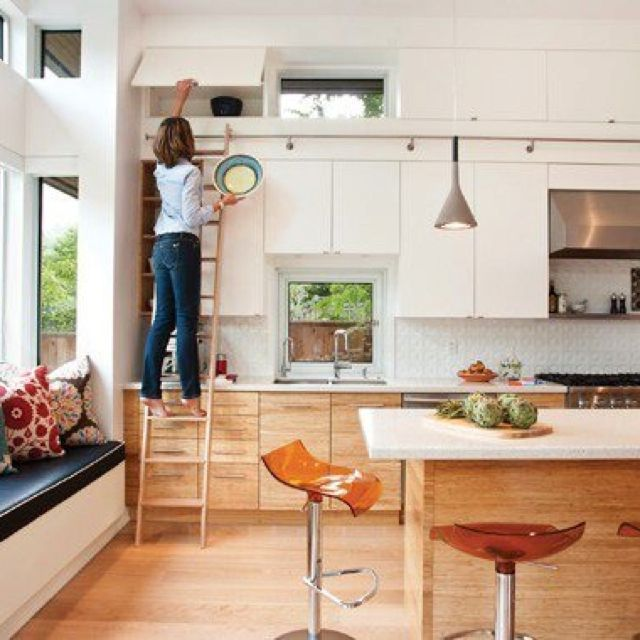 Clever cupboards & love a ladder system!