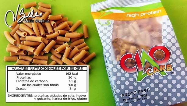 Proto Pasta Ciao Carb: pasta alta en proteínas y baja en hidratos, que sale bien de precio y  además es apta para la dieta Dukan desde la fase Crucero.