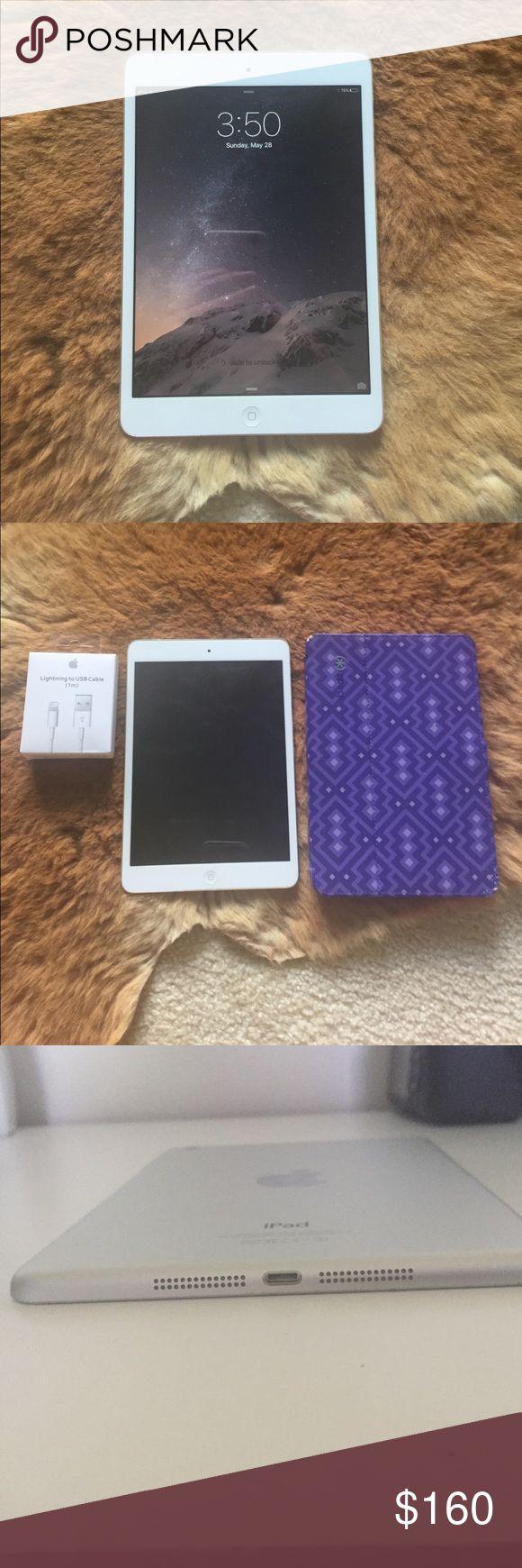 Apple Ipad Mini 1st Generation With Speck Case Excellent, no icloud or itunes lock ipad mini wifi. works great! i used it for youtube videos. i need a new laptop though. comes with a speck case and a brand new OEM apple 3 ft long lightning charge cable. Apple Other